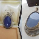 PENDENT PICTURE photo FRAME in sterling silver 925 for necklace Original 1950s In gift box