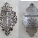BIG MEDAL PENDENT Hermitage of the Holy Christ of the True Cross Original Spain 1970s