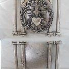 MEDAL or Belt buckle in metal of Our Lady of Sorrows Original 1980s