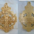 Medal pendent in metal gold color of Mother of Mercy and Comforter Spain Original 1970s