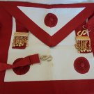 MASONIC LEATHER APRON Grand Master Original freemasonry masonery 1970s Italy Great East Italy Lodge