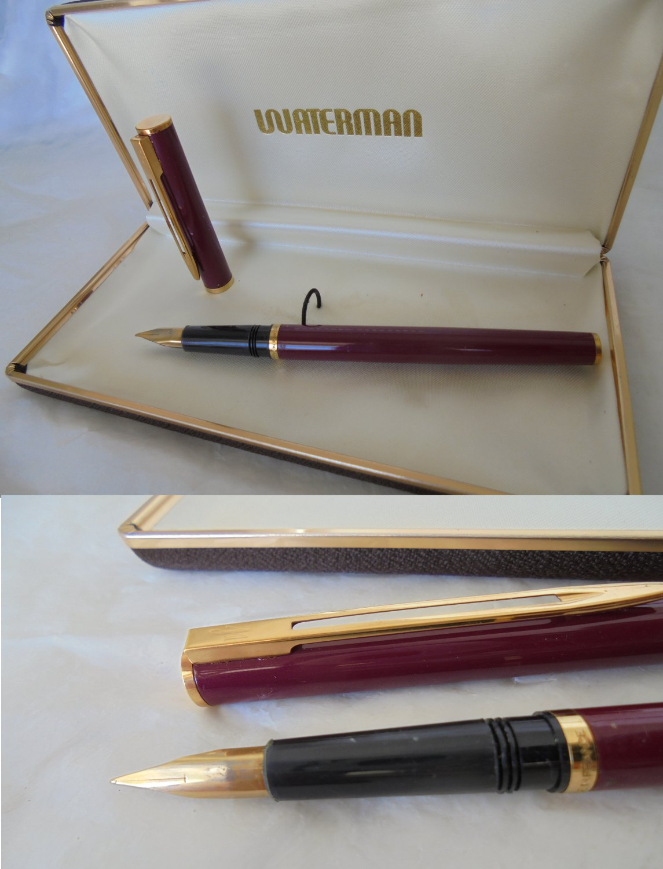 WATERMAN COTELE fountain pen lacque in red color Original in gift box