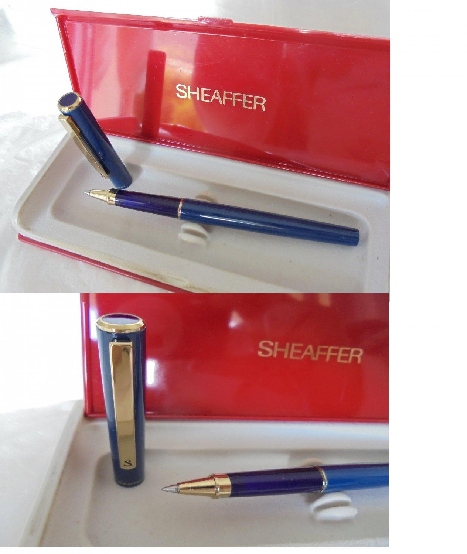 SHEAFFER SAILOR roller pen in steel lacque in blue color Original in gift box