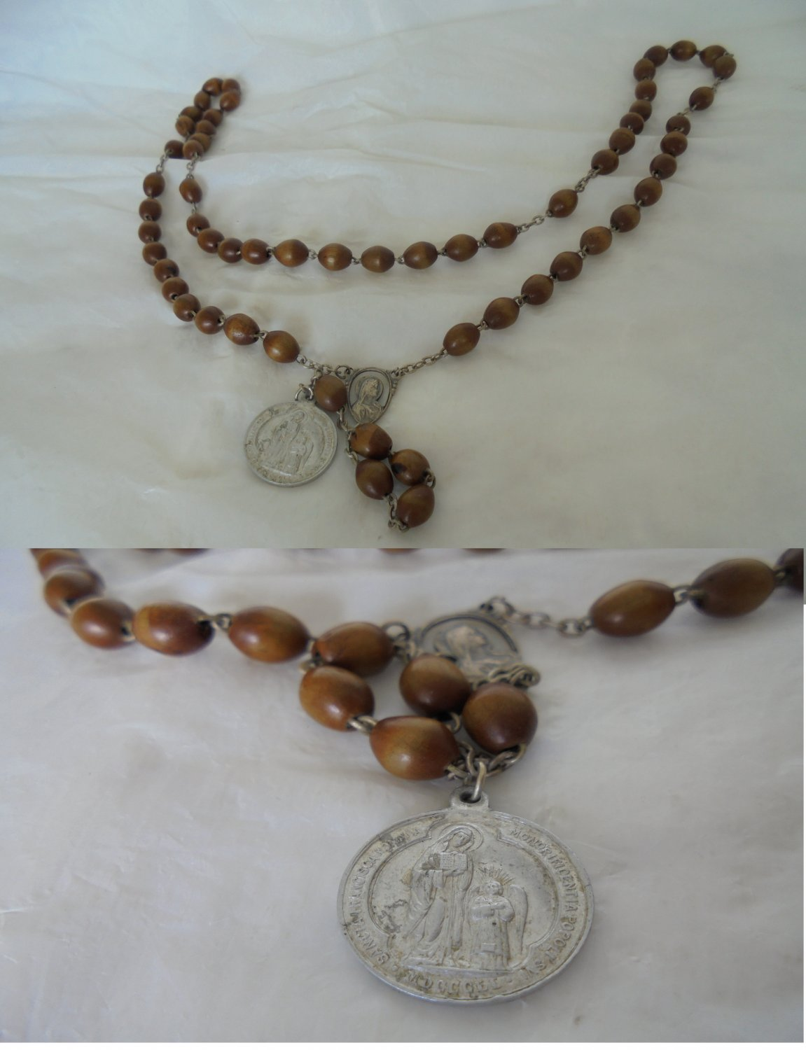 Convent praying Rosary Saint Frances of Rome Made in Italy 1950s