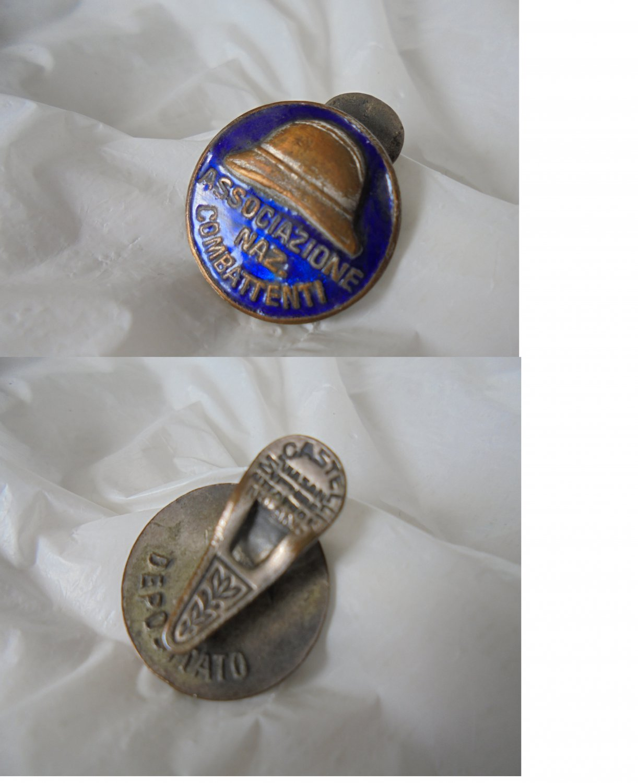 Associazione Nazionale Combattenti pin lacquè National Fighters Association Italy 1950s