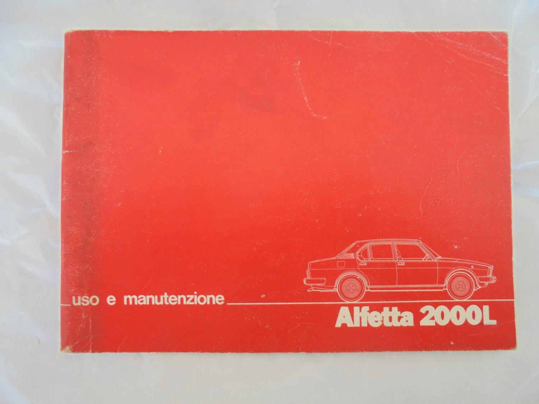 ALFA ROMEO Alfetta 2000L manual book uso e manutenzione Original 1978
