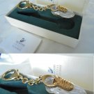 SWAROVSKI CRYSTAL MEMORIES Keychain plated gold New in gift box