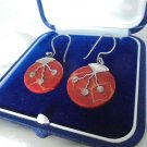 EARRINGS in STERLING SILVER 925 and brecciated jasper Original in gift box