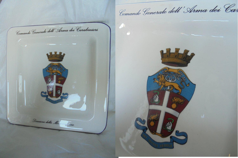 ARMA dei CARABINIERI ITALY ashtray plate Original ceramic In it's box