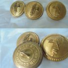 3 Original BUTTONS of MILITARY UNIFORM Italy 1940