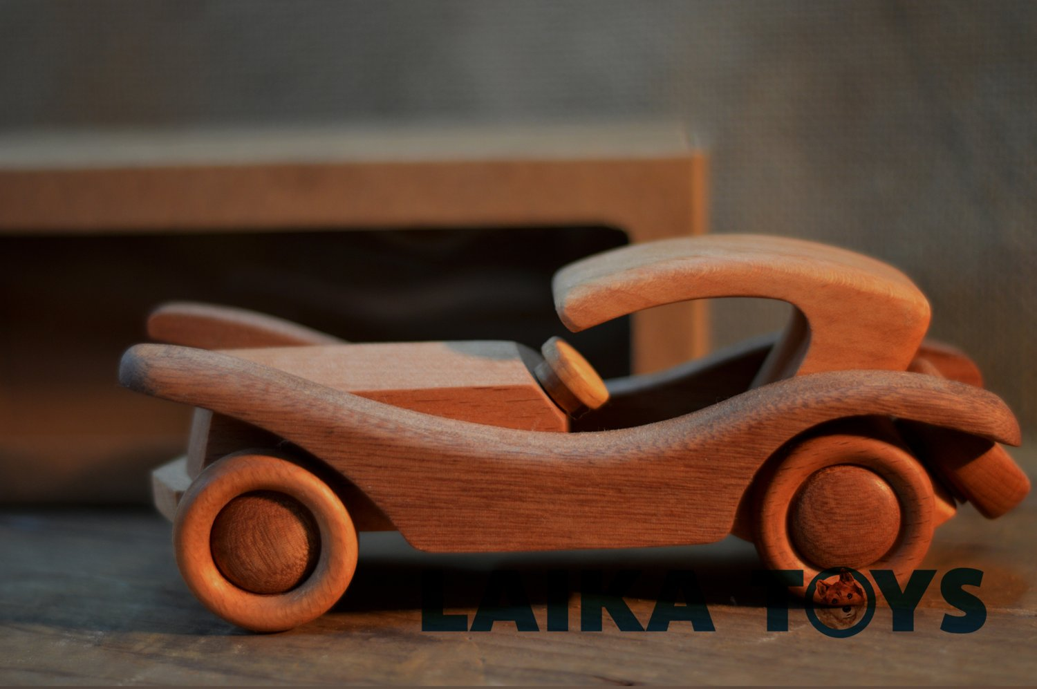 Handcrafted wooden retro toy car - Gift for boys - Birthday gift for kids - Wooden Toy