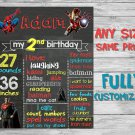 SALE! First Birthday Or Any Age Chalkboard Superhero Printable Sign Boy or Girl