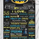 SALE! First Birthday Or Any Age Chalkboard Batman Printable Sign Boy or Girl Poster