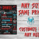 SALE! First Birthday Or Any Age Chalkboard Spiderman Printable Sign Boy or Girl