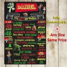 SALE! First Birthday Or Any Age Chalkboard Toy Story Printable Sign Boy Or Girl