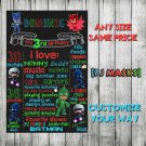 SALE! First Birthday Or Any Age Chalkboard PJ Masks Printable Sign Boy or Girl P