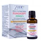 Zane Hellas FunguCept Athlete's Repair Solution.100%Natural.Relieves Itching,Cracking,Scaling.1 oz