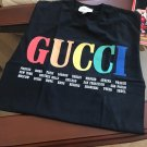 New men Gucci GG T-Shirt 'S' with Rainbow Cities print; Burberry, Off-White