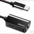 Authentic Baseus L40 USB-C to USB-C + 3.5mm Audio Adapter Splitter