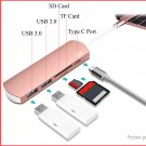 WiWU USB-C to 2*Port USB 3.0 Hub + Card Reader + USB-C Adapter