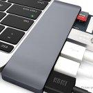 USB-C to 2-Port USB 3.0 Hub + HDMI + USB-C Adapter + Card Reader