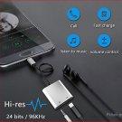 USB-C to USB-C + 3.5mm Audio Splitter Adapter
