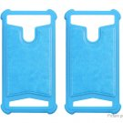 "Universal Silicone Protective Back Case Cover for 4""-4.5"" Cell Phone (2-Pack)"
