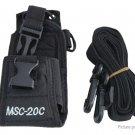 MSC-20C Nylon Protective Case Bag for Walkie Talkie