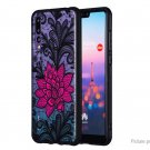 TPU + PC Embossed Protective Back Case Cover for Huawei P20 Pro