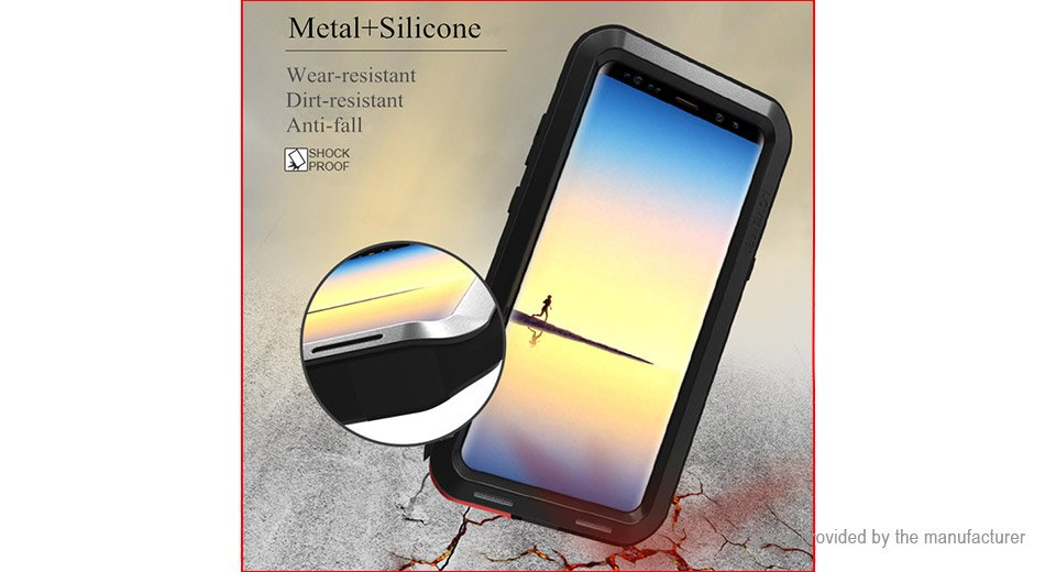 LOVE MEI TPU + Metal Protective Back Case Cover for Samsung Galaxy S9