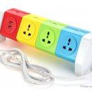 Alardor ALD-4W8KU 2-Port USB Power Strip Charging Socket Adapter (US)