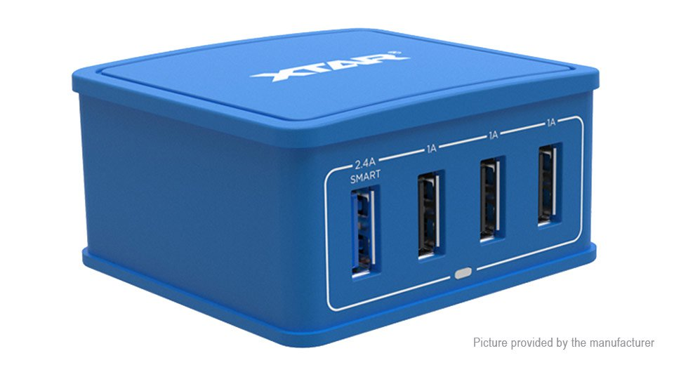 Authentic XTAR 4U 4-Port USB Wall Charger Power Adapter (US)