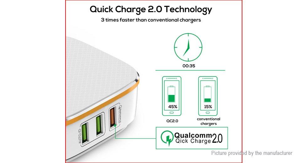TOPK 6-Port Smart USB Charger AC Power Adapter (UK)