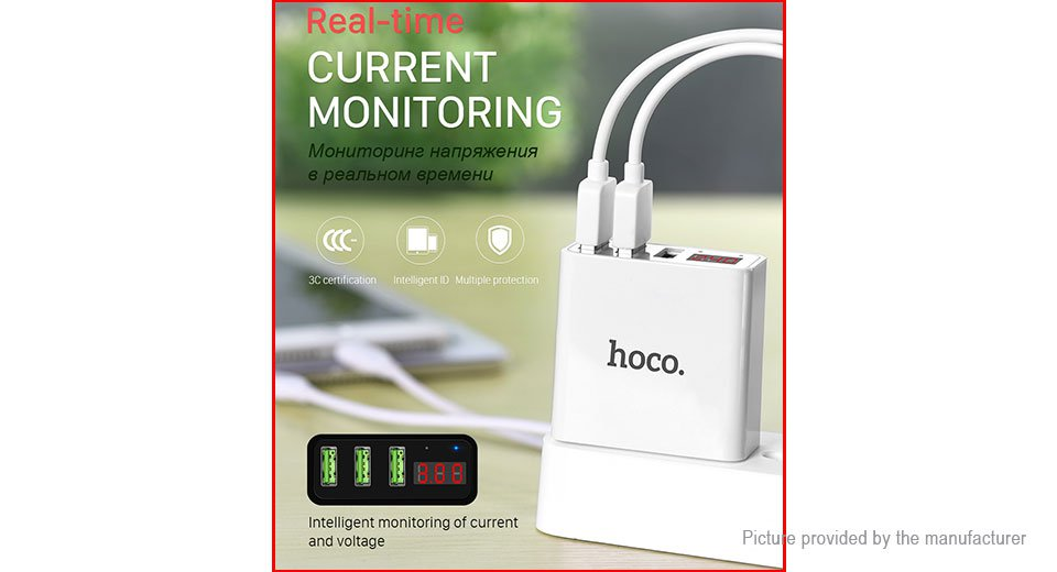 Authentic hoco C15 3-Port USB Wall Charger Power Adapter