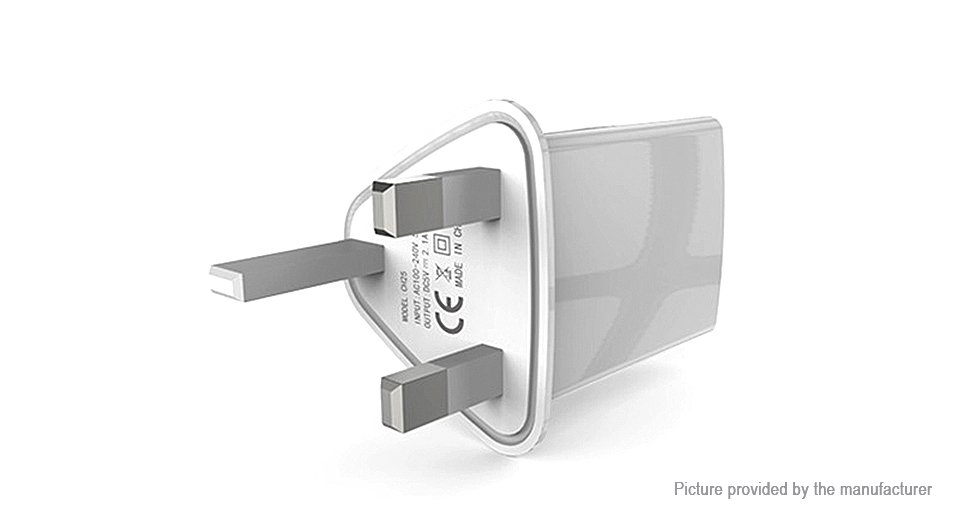 Doolike CH25 Dual USB Wall Charger Power Adapter (UK)