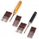 12 in 1 Repair Tool Kit Gold/Black Screwdriver Set
