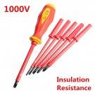 7 Pcs 1000 V, High Voltage Electrical Insulation Resistance Screwdrivers