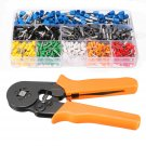 23 AWG to 10 AWG Self Adjusting Ratcheting Ferrule Crimper Plier Tool with 800 Pcs