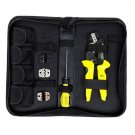 Ratchet Crimping Tool 26-10 AWG Terminals Pliers Kit, Multifunctional