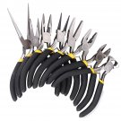 8Pcs Round Beading Nose Pliers Wire Side Cutters Pliers Tools Set