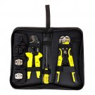 Ratchet Crimping Tool Wire Strippers Terminals Pliers Kit, Multifunctional