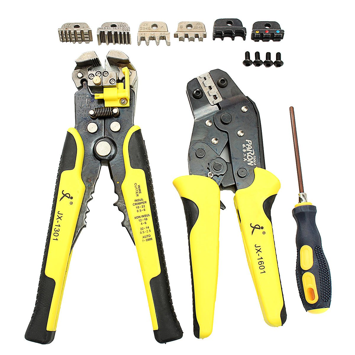 Wire Crimpers Engineering Ratcheting Terminal Crimping Pliers Tool Set