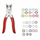310 Pcs, 31 Colors, 9.5mm, Pliers Tool Metal Buttons Prong Snap Fastener Press Studs Plus Plier Kit