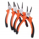 7 Inch 25mm CR-V Circlip Snap Ring Pliers Internal External Straight Bent Type Tool