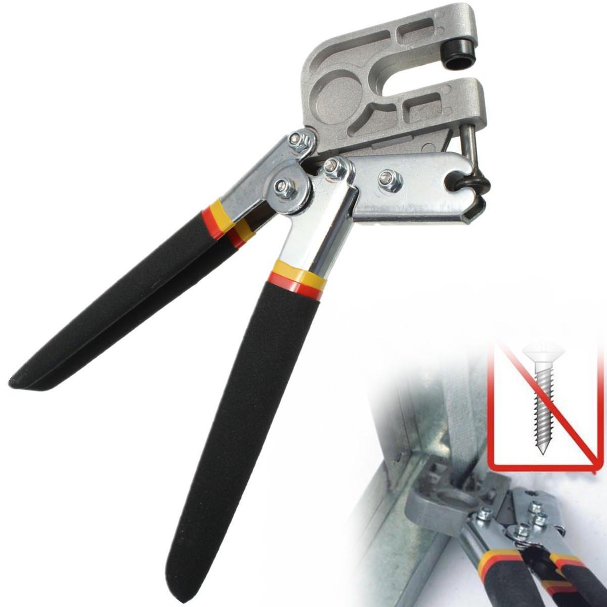 10 Inch TPR Handle Stud Crimper Plaster Board Drywall Tool for Fastening Metal Studs