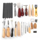 20 Pcs Leather Craft DIY Tool Hand Stitching Cutter Handicraft Tools Kit