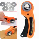 45 mm Rotary Cutter Sewing Quilting Fabric Cutting Craft Tool With 5pcs Blades