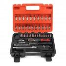46 Pcs 1/4 Inch Wrench Repair Tools Metric Socket Wrench Screw Kit
