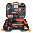 120 Pcs Electric Impact Drill Wood Working Set Multifunctional Maintenance Tools