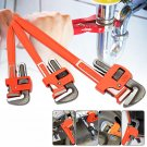 3 Pcs Heavy Duty Pipe Wrench Adjustable Set 14inch 18inch 24inch Monkey Soft Grip